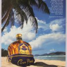 Crown Royal '90s PRINT AD tropical beach Seagram whiskey alcohol advertisement 1998