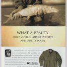 Columbia Sportswear '90s PRINT AD Bonehead Shirt fisherman advertisement 1998