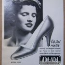 Ada-Ada Schuh '50s German PRINT AD womens shoes vintage advertisement 1957
