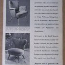 Casala '50s German PRINT AD chairs furniture illustrated vintage advertisement 1957