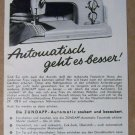 Zundapp '50s sewing machine ZR 128 B PRINT AD German vintage advertisement 1957