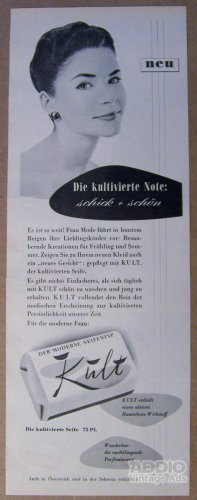 Kult soap &#039;50s German PRINT AD vintage advertisement 1957