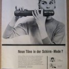 Kobold umbrella '50s German PRINT AD flautist vintage advertisement 1957