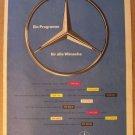 Mercedes-Benz '50s German PRINT AD car automobile vintage advertisement 1957