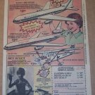 airplane scale models &#39;80s PRINT AD Eastern L1011, Douglas DC10 vintage advertisement 1980