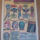 Super Halloween costumes '70s PRINT AD Isis, Batman, Superman vintage advertisement 1976