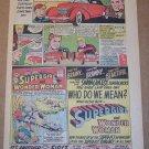 AMT 1937 Cord 812 scale model auto '60s PRINT AD Wonder Woman Supergirl vintage advertisement 1965