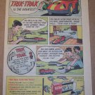 Transogram Trik-Trak '60s PRINT AD race car track toy vintage comic-style advertisement 1965