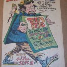 Teen Beat magazine debut '60s PRINT AD cartoon hippie illustrated vintage advertisement 1967