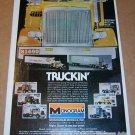 Monogram truckin' model kits '80s PRINT AD Peterbilt 359 trailer truck 18-wheeler advertisement 1980