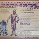 Star Wars Fan Club '80s PRINT AD R2-D2 and C-3PO droids illustrated vintage advertisement 1981
