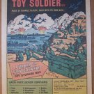 100 Toy Soldiers '80s PRINT AD army military vintage comic book advertisement 1980