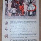 Dentyne chewing gum '40s PRINT AD Goldilocks and three bears vintage advertisement illustrated 1940