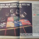 Atarisoft '80s Atari computer video game PRINT AD Pac-Man Donkey Kong vintage advertisement 1983