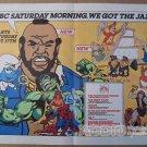 NBC Saturday morning cartoons '80s PRINT AD Thundarr, Mr. T, Smurfs TV vintage advertisement 1983