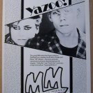 Yazoo - Alison Moyet '80s PRINT AD Yaz Melody Maker British advertisement 1982