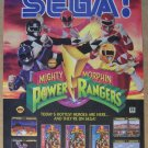 Mighty Morphin Power Rangers '90s PRINT AD Sega video game advertisement 1994