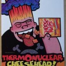 Cheese Nips PRINT AD Thermonuclear Cheesehead snacks Nabisco advertisement 2001