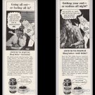 POSTUM Mr. Coffee Nerves '50s PRINT AD LOT caffeine-free vintage advertisement General Foods 1953