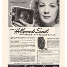 Bell & Howell Betty Hutton '40s Filmo Camera Vintage Advertisement Original Ad 1945
