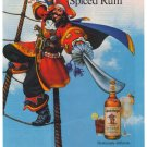 Captain Morgan Pirate Ship '90s Spiced Rum Rope Ladder Advertisement Ad 1992