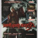 DEVIL MAY CRY 3 video game PRINT AD Capcom PS2 advertisement 2005