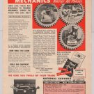 diesel-auto mechanics '40s PRINT AD National Schools training vintage advertisement 1949