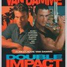 DOUBLE IMPACT Jean-Claude Van Damme '90s PRINT AD twins movie advertisement 1991