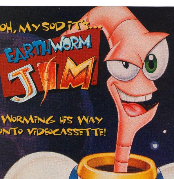 Earthworm Jim Doug TenNapel '90s Cartoon Videocassette VHS Print Ad Only 1995