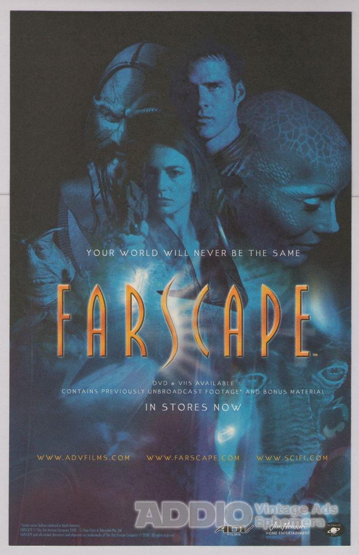 Farscape PRINT AD tv series Claudia Black science fiction advertisement 2000