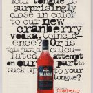 FINLANDIA Cranberry vodka '90s PRINT AD alcohol advertisement 1994