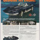 Chevy Corvette Mako Shark '90s PRINT AD Franklin Mint model Cheverolet advertisement 1997