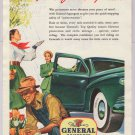 General Squeegee car tires '40s old PRINT AD gardener ladies tulips vintage advertisement 1948