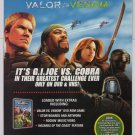 G.I. Joe Valor vs Venom PRINT AD movie advertisement GI Joe VHS DVD 2004