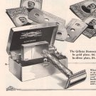 Gillette Bostonian Razor Blades '20s Shaving Safety Original AD PAGE Vintage 1925