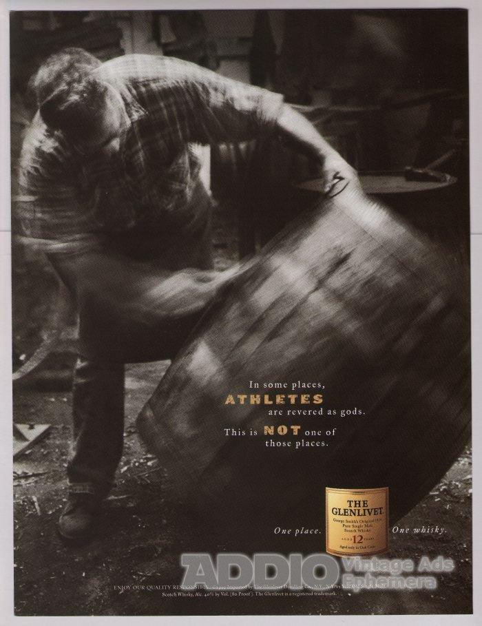GLENLIVET Scotch whiskey PRINT AD alcohol whisky advertisement 2001