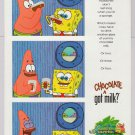 Spongebob Squarepants PRINT AD Got Milk Patrick Star cartoon advertisement 2001