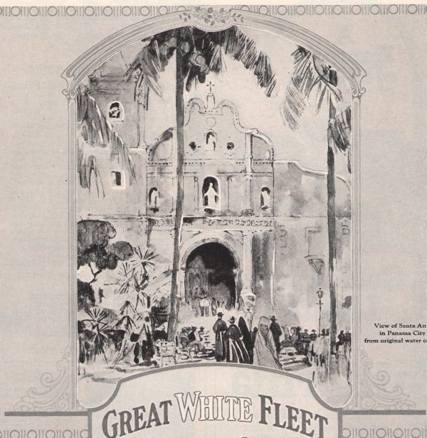 Santa Ana Panama City Great White Fleet '20s Cruise Original Print Ad Vintage 1925