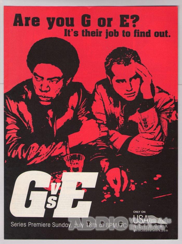 GOOD VS EVIL tv series '90s PRINT AD G vs E television advertisement 1999