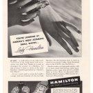 Hamilton Watch '30s Luetta Victoria Bowman Wristwatch Print Ad Page Vintage 1939