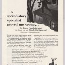HARTFORD insurance '50s PRINT AD 2nd-story burglar vintage advertisement 1953