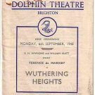 Programme - Dolphin Theatre Brighton, Wuthering Heights - Sept.1948