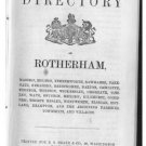 Drakes Directory of Rotherham and District, 1862, Rare