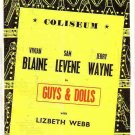 Souvenir Programme - Coliseum, London - Guys and Dolls - 1950s