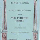 Programme: Tower Theatre Tavistock - The Petrified Forest - 1950s