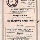 Programme: Q Theatre, Kew Bridge, London - The Season's Greetings - c1950