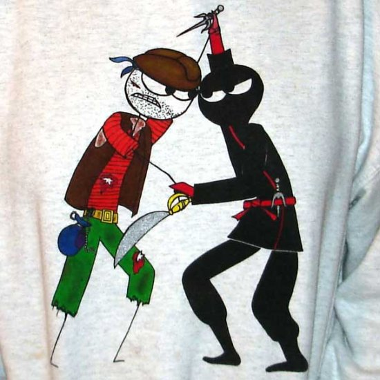 Pirate vs. Ninja Hooded Sweatshirt