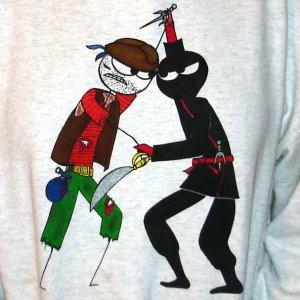 Pirate vs. Ninja Hooded Sweatshirt