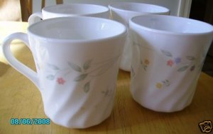 """English Meadow Corelle Coffee Cups (Corning) Very NICE"