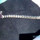 Vintage CORO BRACELET Silvertone Links Signed Coro w/ safety catch